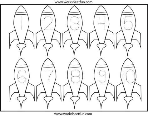 rockets number tracing crafts and worksheets for