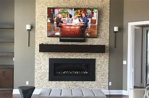 70 U2033 4k Hdtv Above Fireplace With Sonos Surround Sound