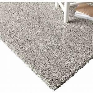 tapis gris shaggy lizzy l160 x l230 cm leroy merlin With tapis gris pailleté
