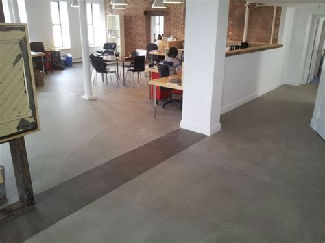 This floor started as half tile & half wood at Architect