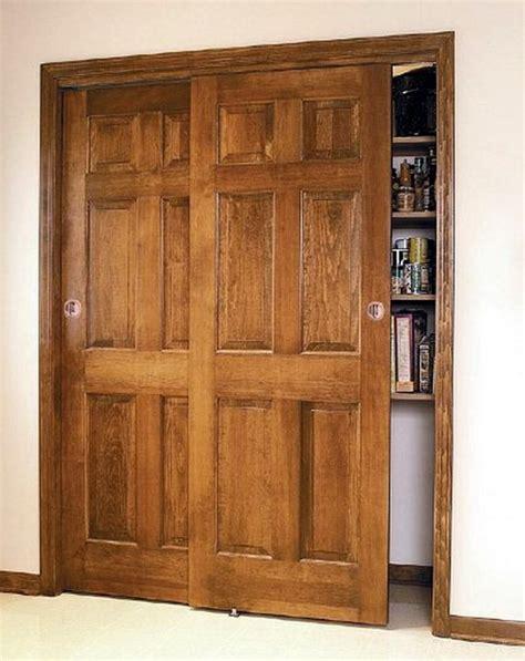 wood bypass doors master bath