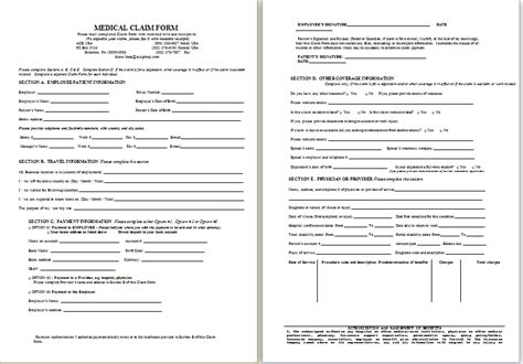 forms of disability sle disability claim form printable medical forms