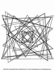 Geometric Abstract Coloring Pages