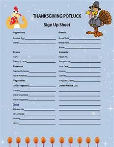 thanksgiving potluck sign up sheet printable pictures to With thanksgiving potluck signup sheet template