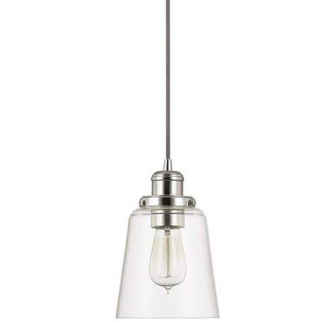 Home Decorators Collection 1light Polished Nickel Pendant