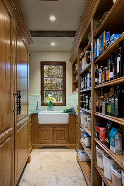 traditional butlers pantry  farmhouse sink hgtv