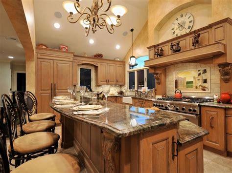 tiered kitchen island  granite countertops