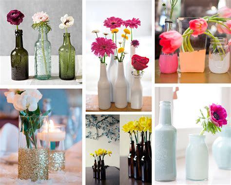ideas  decorar  floreros reciclados