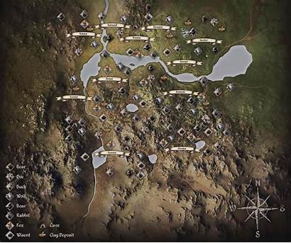 Dynasty Medieval Map Locations Animal Cave Clay