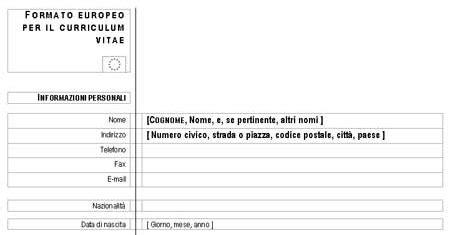 download gratis curriculum vitae europeo da compilare pdf merge modello curriculum vitae europeo in word da scaricare e stare