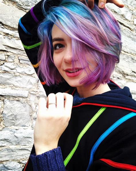 Pastel Blue Green Pink And Purple Opal Galaxy Hair