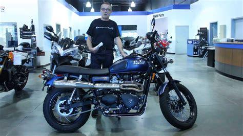 U081548 2014 Triumph Scrambler Matt Blue