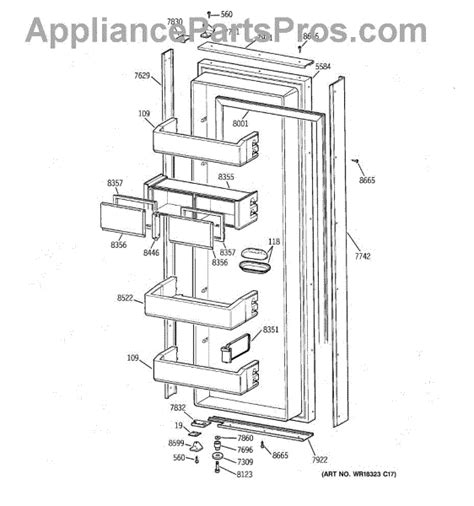 parts  ge zisbdca fresh food door parts appliancepartsproscom