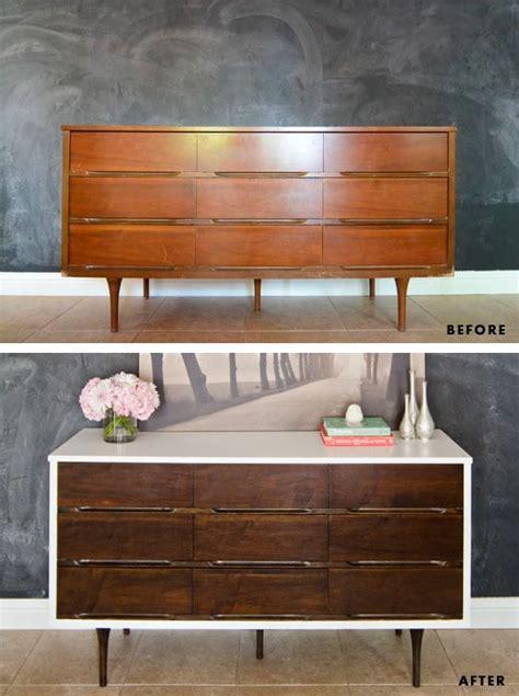 how to stain paint veneer furniture mid century modern dresser modern dresser and mid
