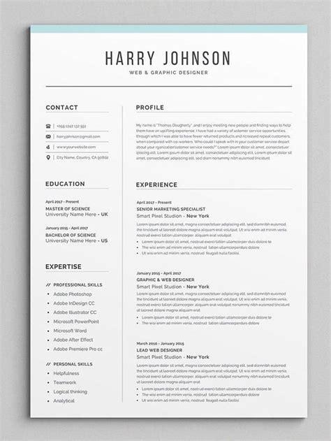 resume template modern professional resume template