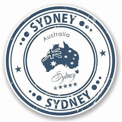 Australia Travel Sydney Sticker Stickers Label Map