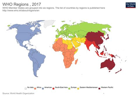Who Regions  Our World In Data