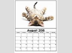 Free Printable 2018 Kitten Calendars Sarah Titus