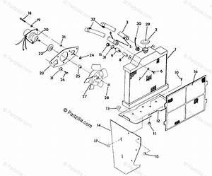 Polaris Atv 1992 Oem Parts Diagram For Cooling System 350