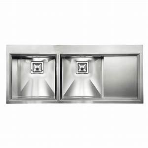 Edelstahl Spüle Doppelbecken : cm glamour mix 116x50 2v einbausp le doppelbecken edelstahl geb rst ~ Markanthonyermac.com Haus und Dekorationen