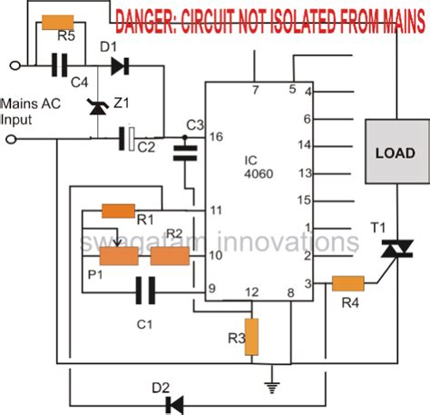 simple triac timer circuit