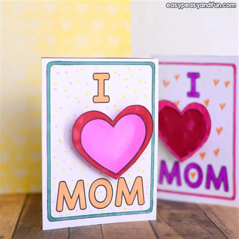 simple mothers day card idea easy peasy  fun