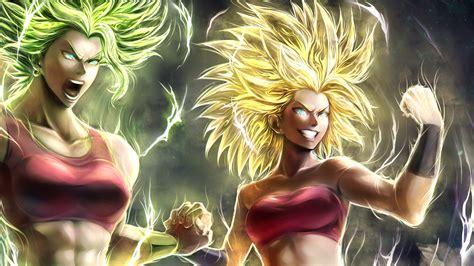 caulifla kale dragon ball super girls hd anime