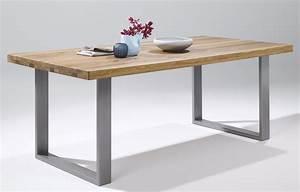 Esstisch Massivholz Günstig : elfo massivholz esstisch auf metallgestell von elfo ~ Watch28wear.com Haus und Dekorationen