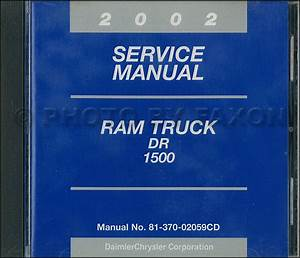 2002 Dodge Ram 1500 Pickup Truck Repair Shop Manual Original