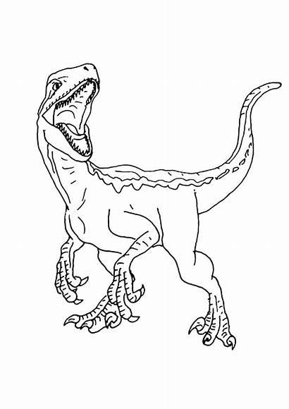 Coloring Dinosaur Jurassic Indoraptor Movie Printable Dinosaurs