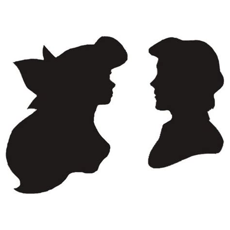 Little Mermaid And Flounder Pumpkin Stencil by The Gallery For Gt The Little Mermaid Silhouette