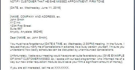 warning letter  missing meeting