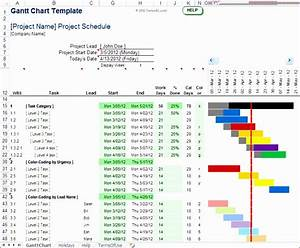 8 Excel Simple Gantt Chart Template Excel Templates