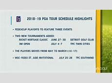 2019 pga tour schedule Download 2019 Calendar Printable