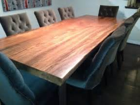 hand crafted  edge sycamore dining table  north