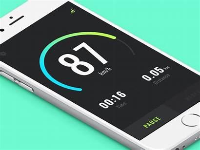 Gps Speed Animation Ui Tracking App Measure