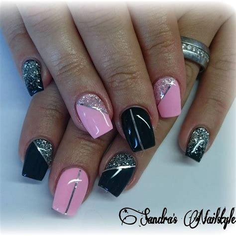 nägel weiß glitzer 171 geln 228 gel gelnails gelish gel glitter glitternails glitzer black rosa rosanails