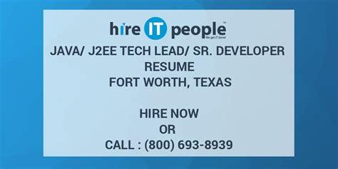javajee tech leadsr developer resume fort worth texas