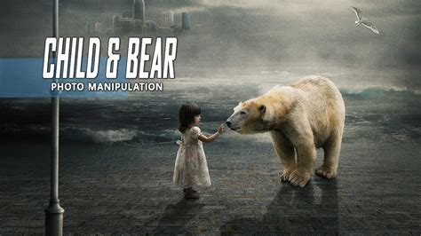 child white bear photoshop manipulation tutorial