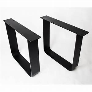 Tischgestell Metall Schwarz : tischbeine new york schwarz matt ~ Frokenaadalensverden.com Haus und Dekorationen