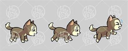 Husky Lucky Sprite Side Character 2d Spritesheet