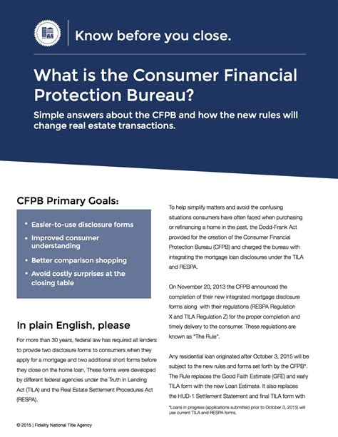 customer protection bureau how the cfpb and trid will change your home buying experience