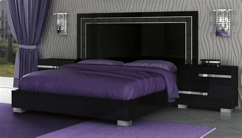 Volare-king Size Modern Black Bedroom Set Pc Made In