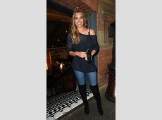Gemma Atkinson keeps things casual in jeans and sexy boots
