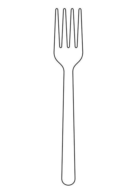 fourchette cuisine coloriage fourchette img 19154