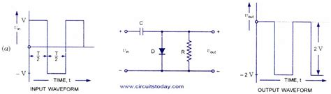 diode clamping circuit positive  negative clamper