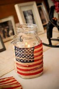 streamers american flag and american flag crafts on pinterest With what kind of paint to use on kitchen cabinets for mason jars candle holder