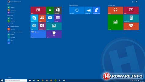 eerste indruk windows  build  startmenu startscherm