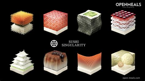 printed sushi nutritionally customized based  diners