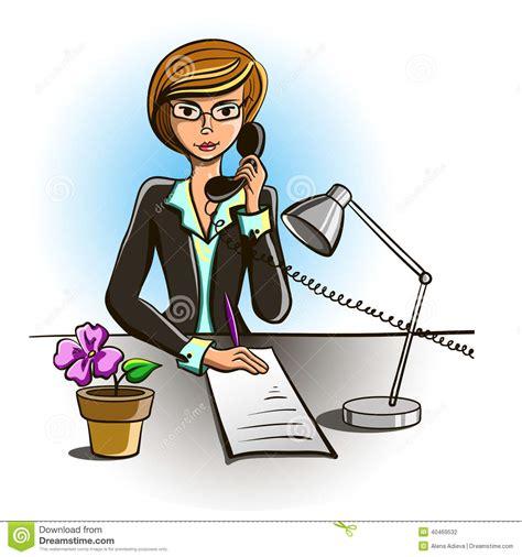 employé de bureau secrétaire illustration de vecteur image 40469532